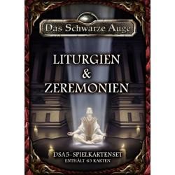 Das schwarze Auge DSA5 Spielkartenset Liturgien & Zeremonien