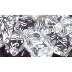 RPG Dice Translucent Polyhedral 7 clear