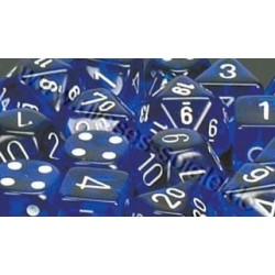 RPG Dice Translucent Polyhedral 7 blue