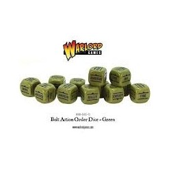 Bolt Action Orders Dice Green