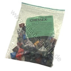 Speckled Bags of 50 Dice Asst. Loose Speckled Poly. d8 Dice