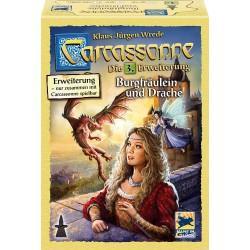 Carcassonne Erw. 3 Burgfräulein & Drache