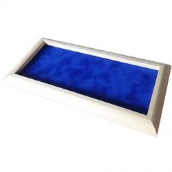 Würfelbrett Holz hell blau (36 x 18 cm)