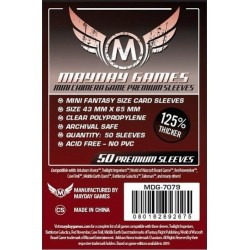 Premium Mini Chimera Game Sleeves (50) 43 x 65mm (red) -7079