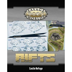 Savage World Rifts Map North America & Castle Refuge
