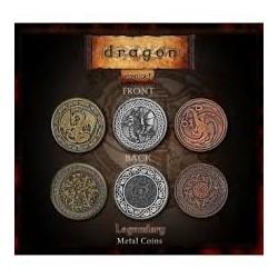 Metall Spielemünzen Metal Coins Drachen