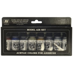Vallejo Model Air Set Metallic Colors
