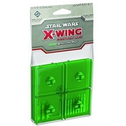 Star Wars X-Wing Bases green