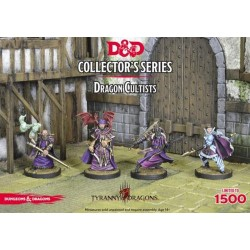 Dungeons and Dragons D&D Tyranny of the Dragons Cultists (4 Figuren)