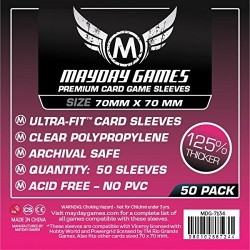 Maydaygames Small Square Card Sleeves  70 x 70mm -7124