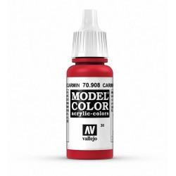 Vallejo Model Color Carmine Red 908