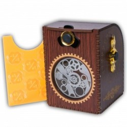 Deck Case Gears Steampunk Wooden