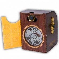 Deck Case Gears Steampunk Wooden
