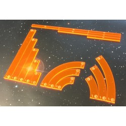 Full acrylic templates set compatible with X-Wing (Rebels) orange