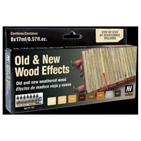 Vallejo Model Air Set Old & New Wood