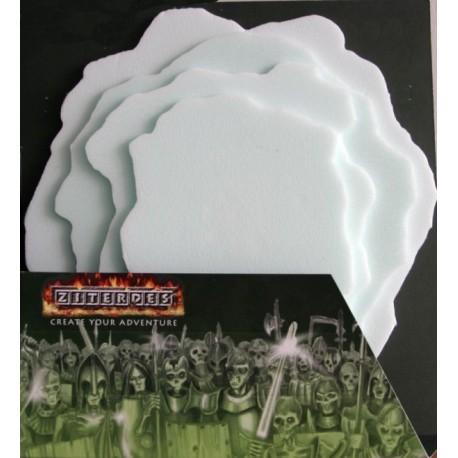 Ziterdes Tabletop Diorama-Bastelplatten 4 Stück