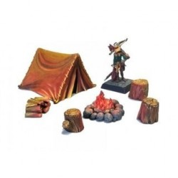 Ziterdes Feuerstelle mit Zelt 6-teilig