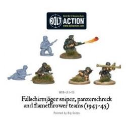 Fallschirmjager sniper panzerschreck and flamethrower