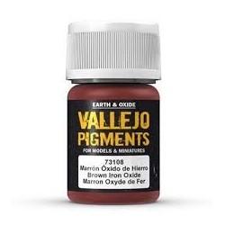 Vallejo Pigment Brown Iron Oxide 30ml VA73108