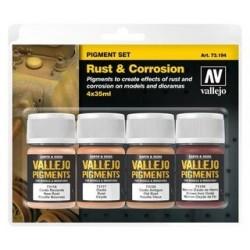 Vallejo Pigment Set Rust & Corrosion