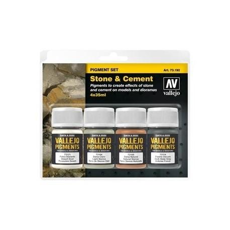 Vallejo Pigment Set Stone & Cement