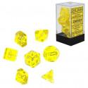Translucent Polyhedral 7 Die Dice Set Yellow & White