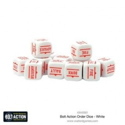 Bolt Action Orders Dice White 12