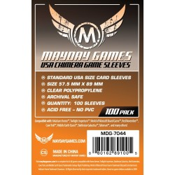 Mayday Games USA Chimera Game Sleeves (100) 57.5 x 89mm (orange) -7044