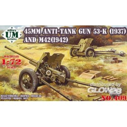 45mm Antitank guns 53-K (1937) and M42 (1942)