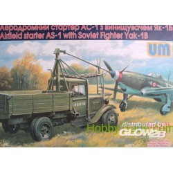 Airfield starter AS-1with Soviet fighter