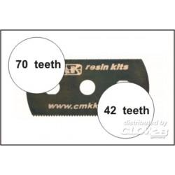 5 Sägeblätter, feine und grobe Zähne