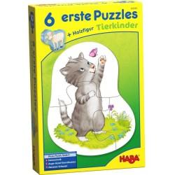 6 erste Puzzles Tierkinder