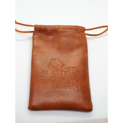 Würfelbeutel PU Leather Brown