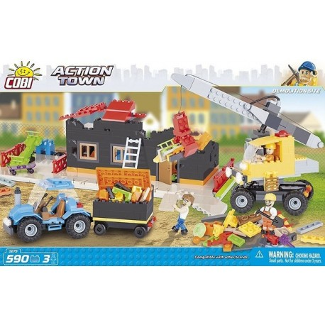 COBI ACTION TOWN 1675 DEMOLITION SITE