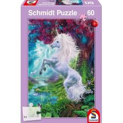 Puzzle Einhorn im verzauberten Garten 60T