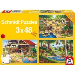 Puzzle Alle meine Lieblingstiere 3x48T