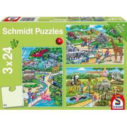 Puzzle Ein Tag im Zoo 3x24T