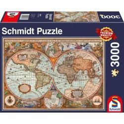 Puzzle Antike Weltkarte Schmidt 3000T