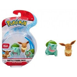 Pokemon Battle Figuren Evoli Bisasam
