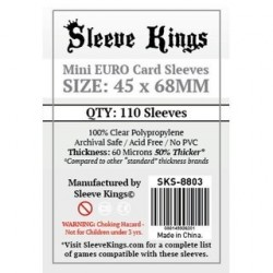 Sleeve Kings Mini Euro Card Sleeves (45x68mm) 110 Pack
