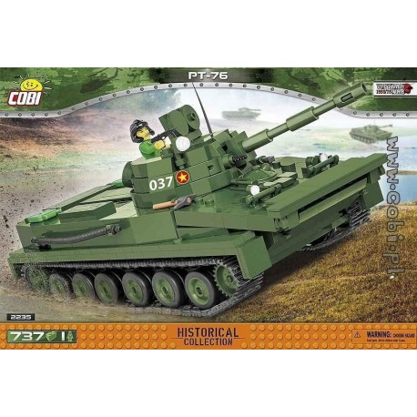 COB 735 PCS VIETNAM WAR/2235/LIGHT AMHIBIOUS TANK PT-76