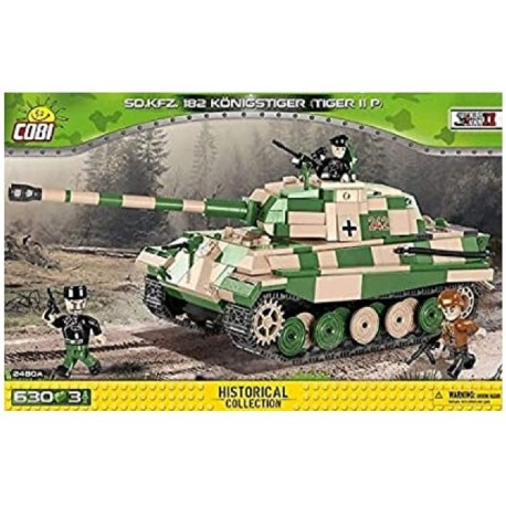 630 PCS SMALL ARMY /2480/ SD.KFZ.182 KONIGSTIGER
