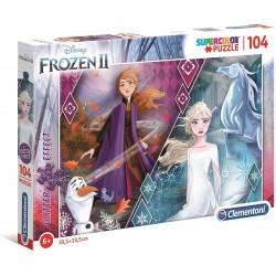 Puzzle Glitter Frozen 2 104T