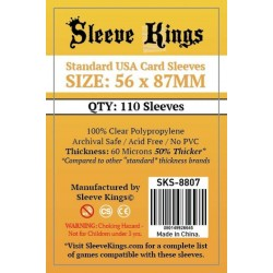 Sleeve Kings Standard USA Card Sleeves 56x87mm (110)
