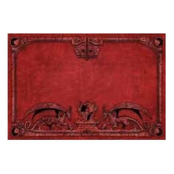 Spielmatte - Drachen, rot