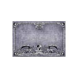 Spielmatte - Drachen, grau