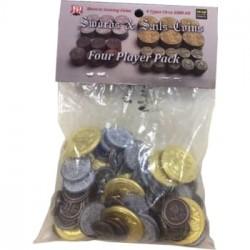 Swords & Sails: Historic Metal Coins 4 Player Pack - EN
