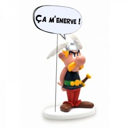 Asterix mit Sprechblase: CA M'ENERVE