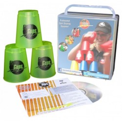Speed Stacking: FlashCups (12 Stk., lemon) mit Lunchbox+DVD