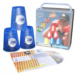 Speed Stacking: FlashCups (12 Stk., Iceblue)mit Lunchbox+DVD